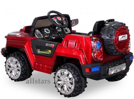 Allstars E-Kinderauto Super Elektro Jeep metallic rot Hummer-Optik KL-88 - Vorschau 4