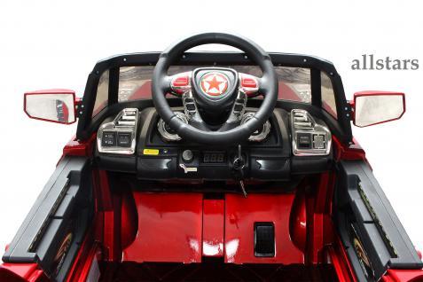 Allstars E-Kinderauto Super Elektro Jeep metallic rot Hummer-Optik KL-88 - Vorschau 5
