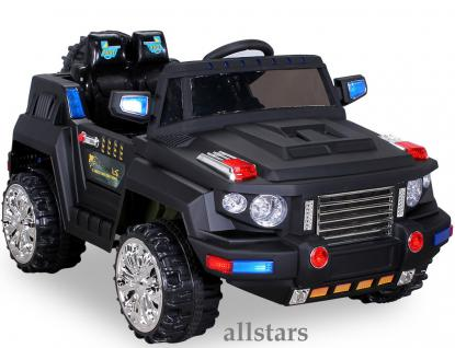 Allstars E-Kinderauto Super Elektro Jeep schwarz Hummer-Optik KL-88