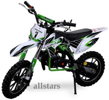 Allstars Kindermotorrad 49 cc Mini CrossBike Pocketbike gruen - Vorschau 1