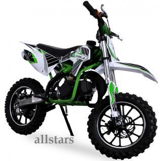Allstars Kindermotorrad 49 cc Mini CrossBike Pocketbike gruen - Vorschau 2