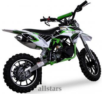 Allstars Kindermotorrad 49 cc Mini CrossBike Pocketbike gruen - Vorschau 3