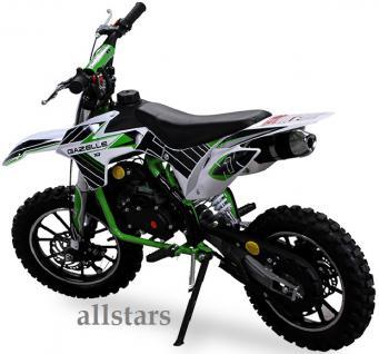 Allstars Kindermotorrad 49 cc Mini CrossBike Pocketbike gruen - Vorschau 4