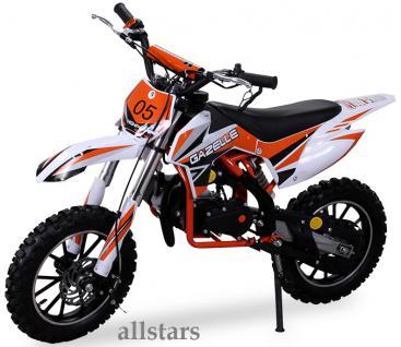 Allstars Kindermotorrad 49 cc Mini CrossBike Pocketbike orange - Vorschau 2