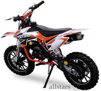Allstars Kindermotorrad 49 cc Mini CrossBike Pocketbike orange - Vorschau 3