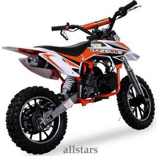 Allstars Kindermotorrad 49 cc Mini CrossBike Pocketbike orange - Vorschau 4