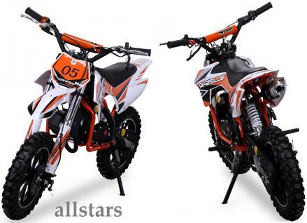 Allstars Kindermotorrad 49 cc Mini CrossBike Pocketbike orange - Vorschau 5