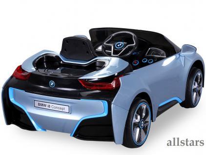 allstars kinder elektroauto bmw i8 metallic hellblau mit lizenz kaufen bei euro direkt. Black Bedroom Furniture Sets. Home Design Ideas