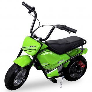 Allstars Mini Elektrobike E-Bike Elektro Motorrad gruen 250W Pocketbike