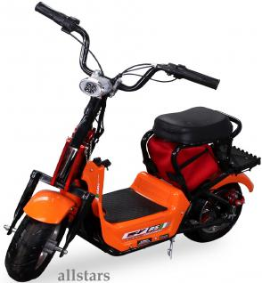 Allstars Mini Elektrobike E-Bike Elektro Motorrad 350W orange Pocketbike