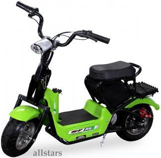 Allstars Mini Elektrobike E-Bike Elektro Motorrad 350W gruen Pocketbike