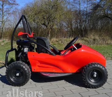 Allstars Buggy GoKart Kinderquad Quad SQ80 80cc Pocketquad rot - Vorschau 1