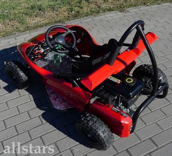 Allstars Buggy GoKart Kinderquad Quad SQ80 80cc Pocketquad rot - Vorschau 2