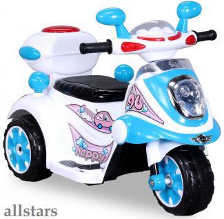 Allstars Kindermotorrad Elektro Trike LS-128A blau Dreirad Elektrodreirad