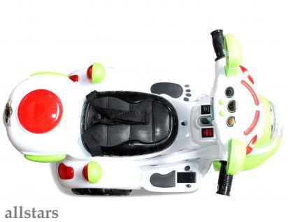 Allstars Kindermotorrad Elektro Trike LS-128A grün Dreirad Elektrodreirad - Vorschau 5