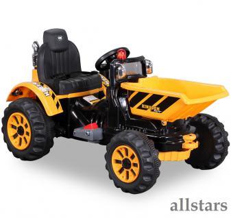 Allstars Elektro Kinder Radlader Schaufelbagger Kinderquad Lion 2 gelb