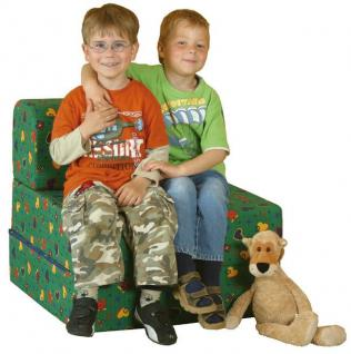 Bänfer Kinder Klappsessel MAXI Klappliege Liege Farbwahl Microfaser Motiv - Vorschau 1