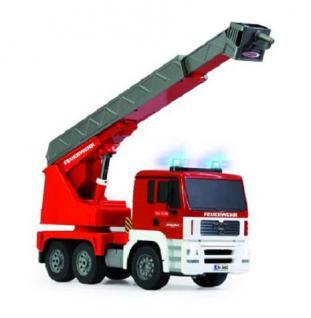 Jamara Feuerwehr MAN Firefighter Leiterwagen 1:20 LED ferngesteuert Funk RC Auto