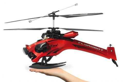 RC Hubschrauber Flyrobot Turbo Helikopter Scheinwerfer Gyro Modell Funk Jamara