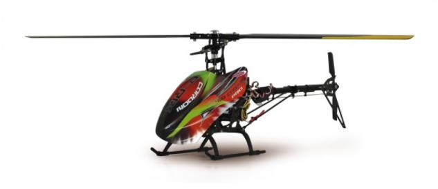 Jamara Hubschrauber E-Rix 450 Carbon Pro RTF Gas links Helikopter Gyro RC 2