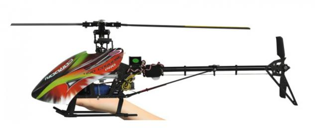 Jamara Hubschrauber E-Rix 450 Carbon Pro RTF Gas links Helikopter Gyro RC 3