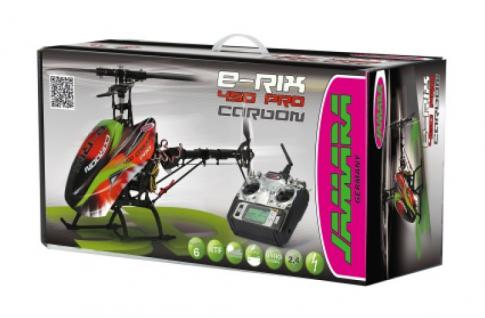 Jamara Hubschrauber E-Rix 450 Carbon Pro RTF Gas links Helikopter Gyro RC 5