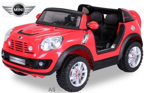 Kinderauto Elektro BMW Mini Beachcomber 2-Sitzer Fernbedienung rot - Vorschau 1