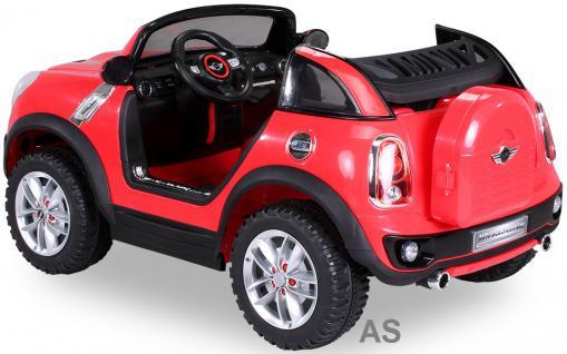 Kinderauto Elektro BMW Mini Beachcomber 2-Sitzer Fernbedienung rot - Vorschau 2