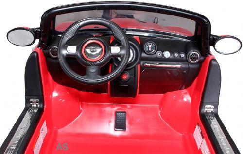 Kinderauto Elektro BMW Mini Beachcomber 2-Sitzer Fernbedienung rot - Vorschau 4