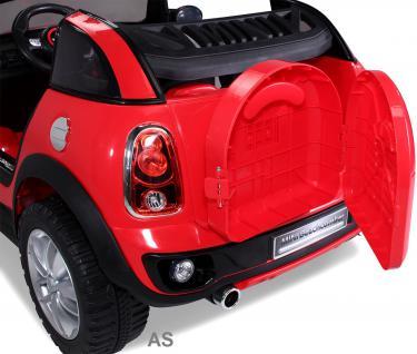 Kinderauto Elektro BMW Mini Beachcomber 2-Sitzer Fernbedienung rot - Vorschau 5