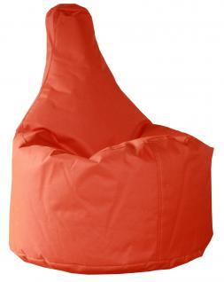 allstars Sitzsack Sitzkissen gefüllt orange 50 x 40 x 75 cm PVC-Polyyester