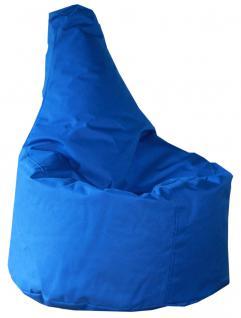 allstars Sitzsack Sitzkissen gefüllt blau 50 x 40 x 75 cm PVC-Polyyester