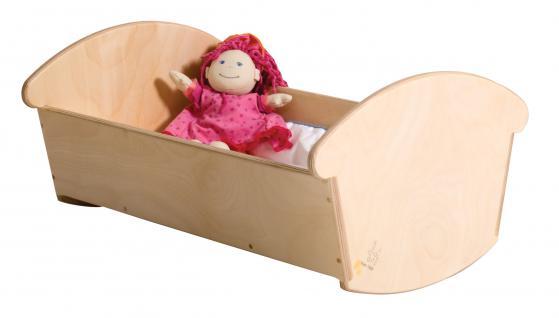 allstars Puppenmöbel Puppenwiege Maxi Holzpuppenwiege mit Bettzeug Holzwiege 60 cm - Vorschau 2