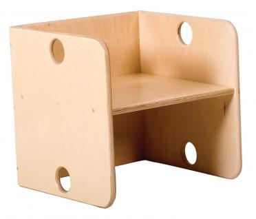 allstars Kindermöbel KiGa Multimöbel Multistuhl Stuhl Kinderstuhl Hocker Holzstuhl - Vorschau 1