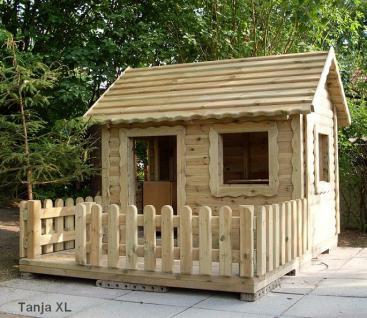 allstars Spielhaus Lucas Kinderspielhaus Gartenhaus mit Terrasse Spielturm Holz