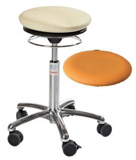 allstars Stuhl Pilates-Stuhl N Rollhocker Drehstuhl Pilates Air Seat orange Hocker