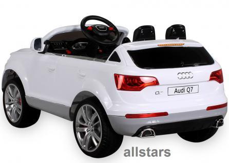 Kinderauto Elektro Audi Q7 E-Auto lizensiert 2x 45W-E-Motor weiss - Vorschau 2