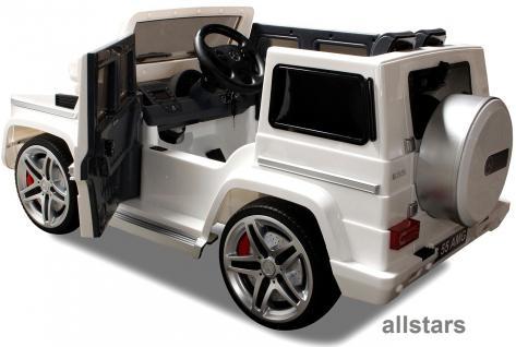 Elektro Kinderauto Mercedes AMG G55005 lizenziert Kinderjeep 70 W Fernbedienung weiß - Vorschau 1