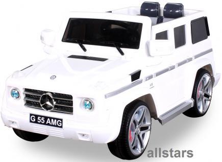 Elektro Kinderauto Mercedes AMG G55005 lizenziert Kinderjeep 70 W Fernbedienung weiß - Vorschau 2