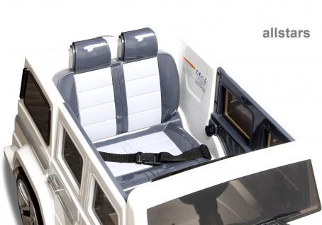 Elektro Kinderauto Mercedes AMG G55005 lizenziert Kinderjeep 70 W Fernbedienung weiß - Vorschau 5