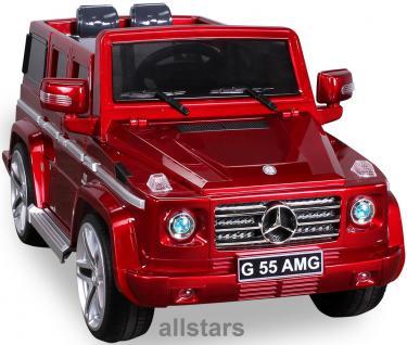 Elektro Kinderauto Mercedes AMG G55007 lizenziert Kinderjeep 70 W Fernbedienung rot-metallic
