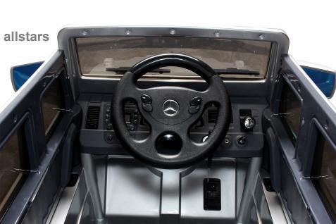 Elektro Kinderauto Mercedes AMG G55008 lizenziert Kinderjeep 70 W Fernbedienung silber-metallic - Vorschau 3