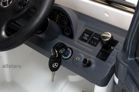 Elektro Kinderauto Mercedes AMG G55008 lizenziert Kinderjeep 70 W Fernbedienung silber-metallic - Vorschau 4
