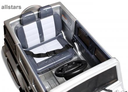 Elektro Kinderauto Mercedes AMG G55008 lizenziert Kinderjeep 70 W Fernbedienung silber-metallic - Vorschau 5