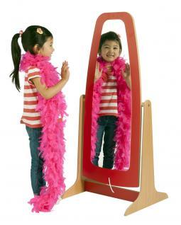 Allstars Standspiegel rot Kindermöbel Spiegel Holzspiegel
