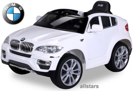 Elektro Kinderauto BMW X6 lizenziert E-Auto 90 W Fernbedienung weiß