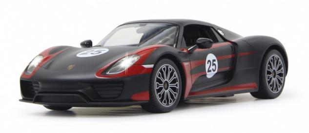 Jamara RC Auto Porsche 918 Spyder Race 1:14 Sportwagen schwarz Funk