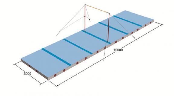 turnen spannreck mattensatz reck loire 37m sportmatte. Black Bedroom Furniture Sets. Home Design Ideas