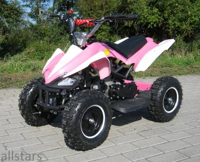 Allstars Kinderquad Quad Pocket-Quad Racer 49cc pink-weiss