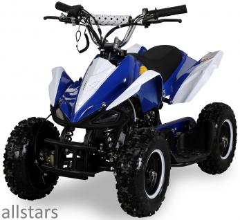 Allstars Kinderquad Quad Pocket-Quad Racer 49cc blau-weiß